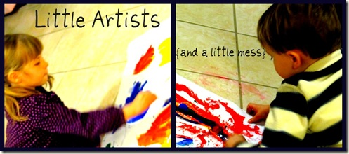 Little Artists Finger Paint