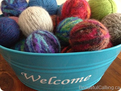 Felted Wool Dryer Balls DIY