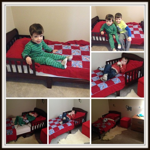 A Bed for a Boy {Crib to Toddler Bed Transition}